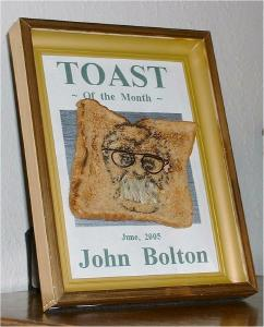 Click here to see John Bolton on a shingle!